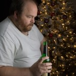 Man Depressed Drinking Alcohol
